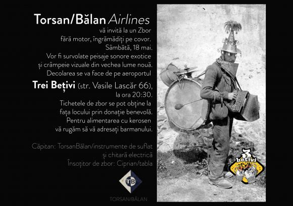 Torsan/Bălan Airlines, zbor fără motor